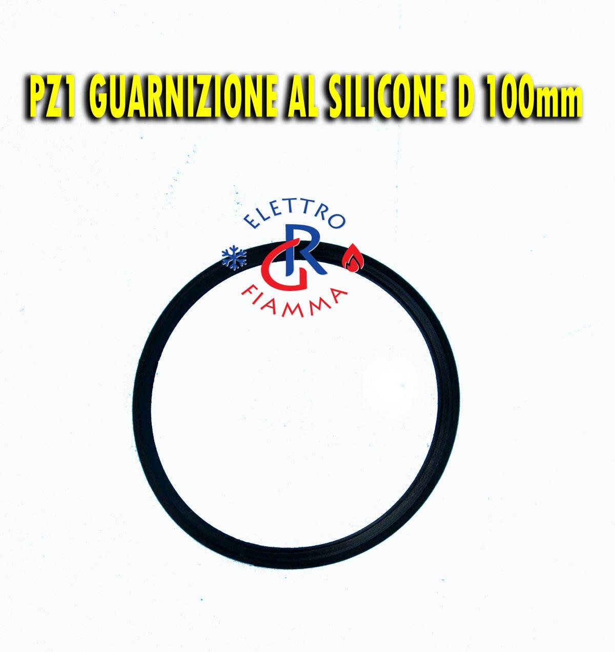 6PZ GUARNIZIONE SILICONE NERA TUBO D100 mm SCARICO FUMI STUFA CALDAIA PELLET