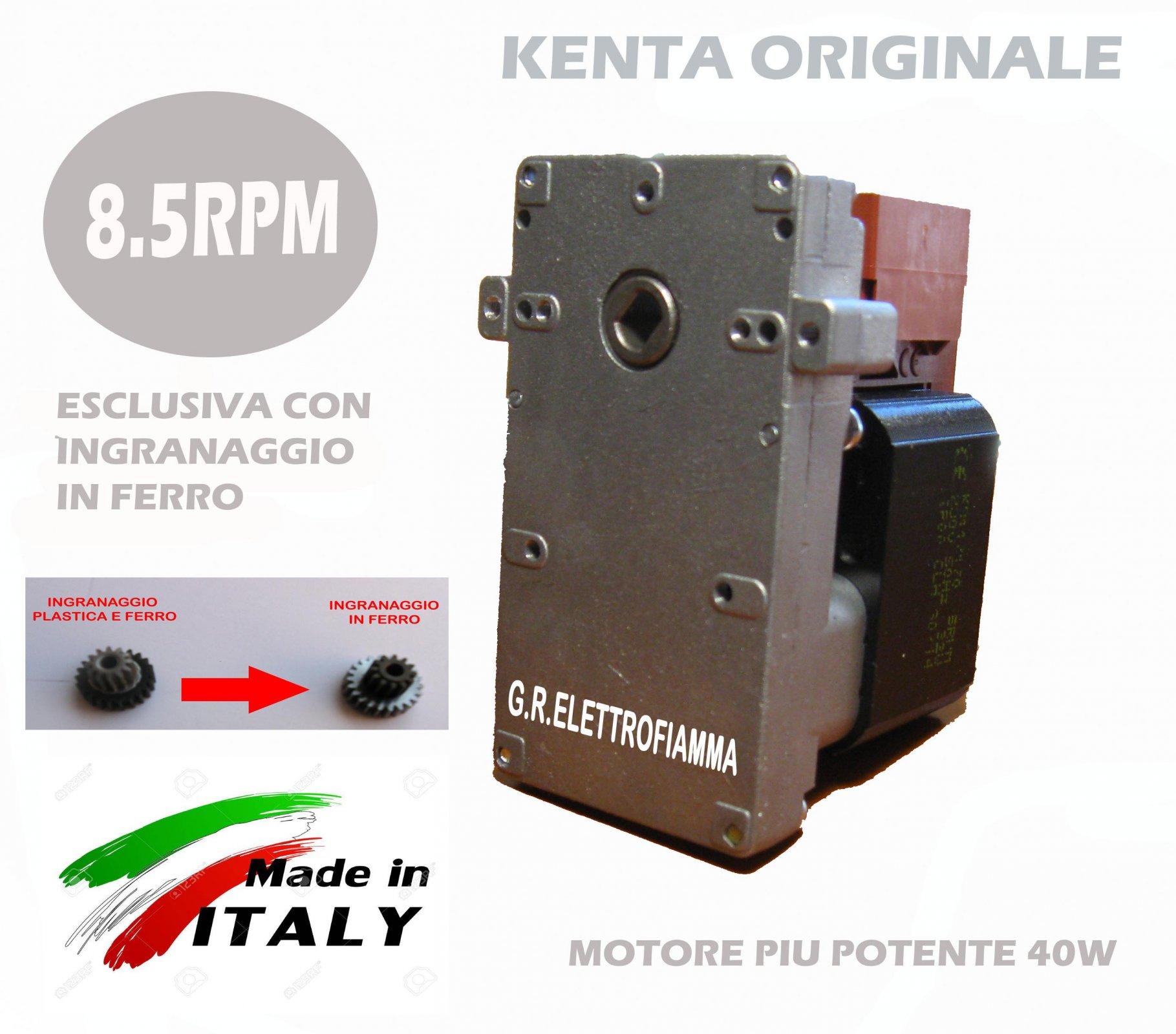 MOTORIDUTTORE PELLET KENTA K9177352-8.5 RPM 230V 50W CON ALBERO X JOLLY MECC