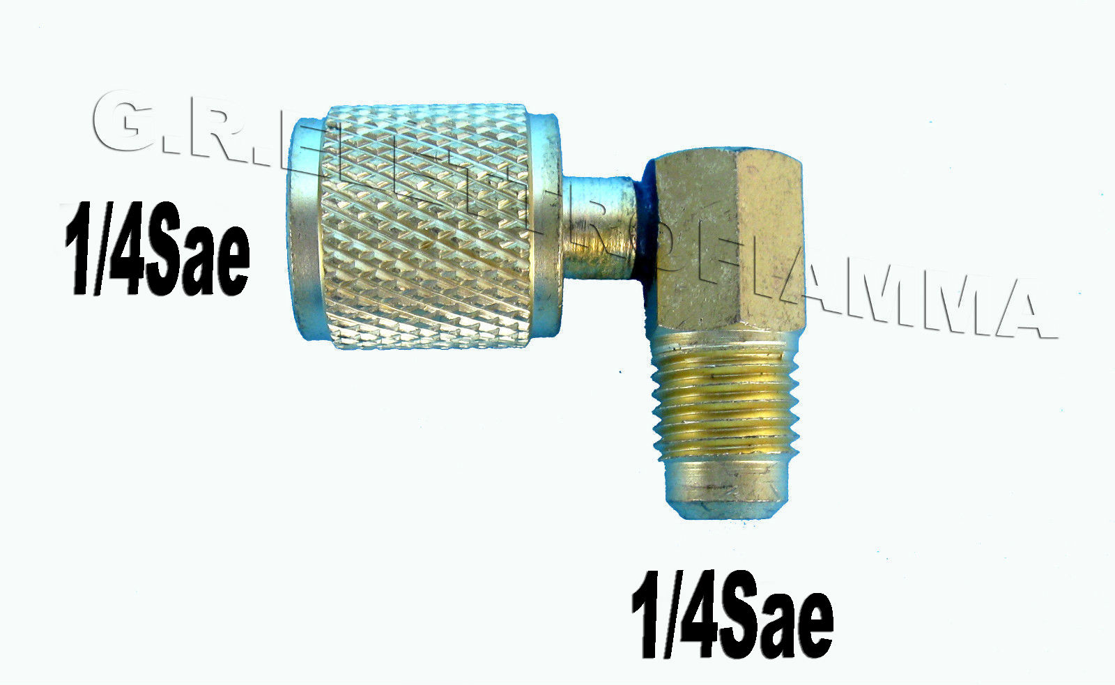 5//16 M sae gas R410A R22 R407 R134A RACCORDO DRITTO PREMI SPILLO RIDUZ 1//4 F