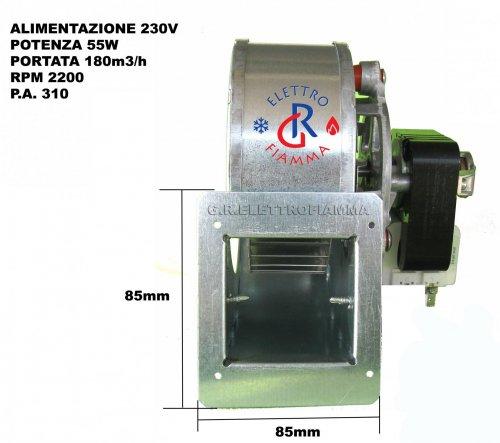 Ventilatore ventola dx stufa a pellet sicalor edilkamin for Ventola centrifuga stufa pellet