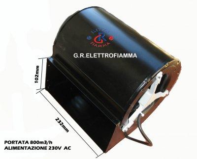 VENTOLA CENTRIFUGA STUFA CAMINO L105X230 ECOFIT 4GDS25 CLAM NORDICA