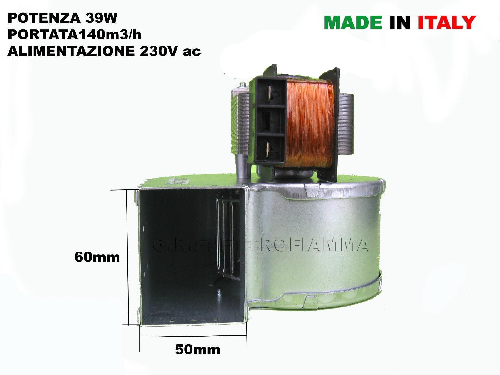 Tubi Aria Calda Stufa Pellet ventola emmevi cod.204853 ventilatore centrifugo aria calda per stufe a  pellet distridutore automatico motore sx 39w