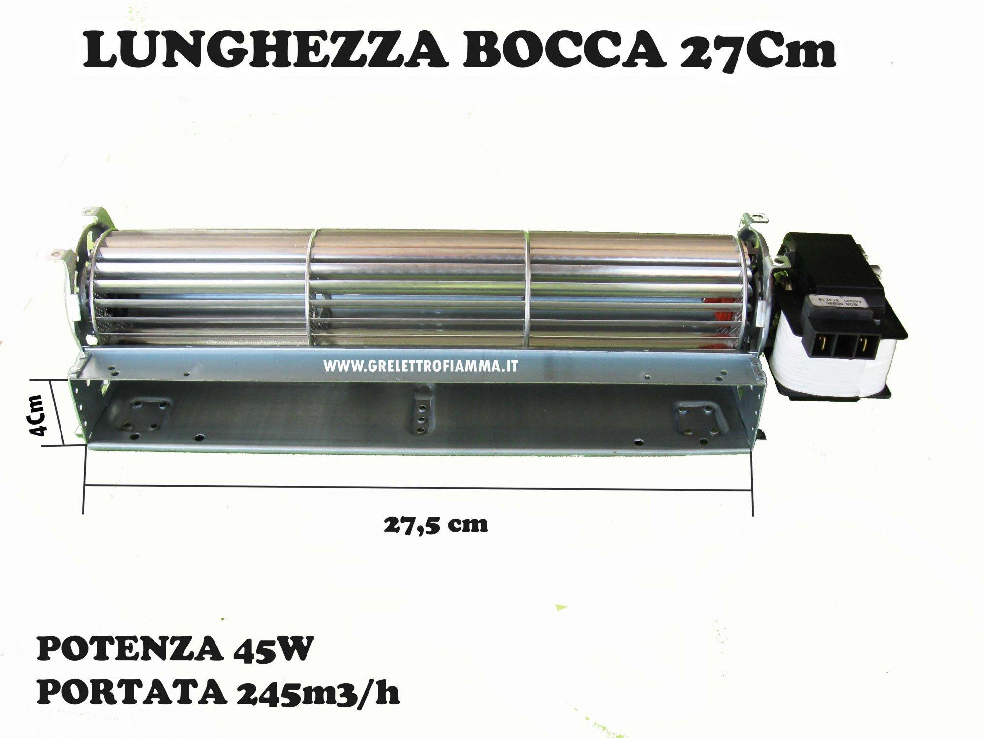 Ventilatore tangenziale da 80 motore SX DX termocamino stufa pellet camino 230V
